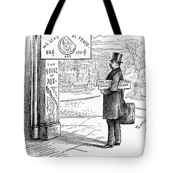 Grover Cleveland Cartoon Tote Bag by Granger