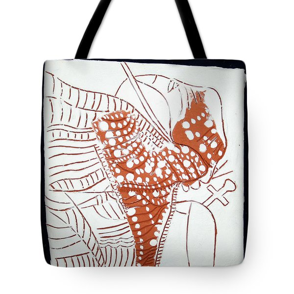Guardian Angel - Tile Tote Bag by Gloria Ssali
