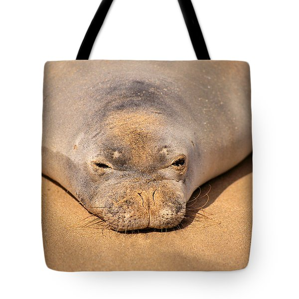 Hawaiian Monk Seal Tote Bag by Dave Fleetham - Printscapes