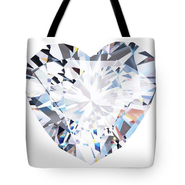 Heart Diamond  Tote Bag