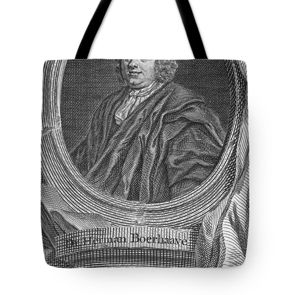 Herman Boerhaave, Dutch Physician Tote Bag by Science Source