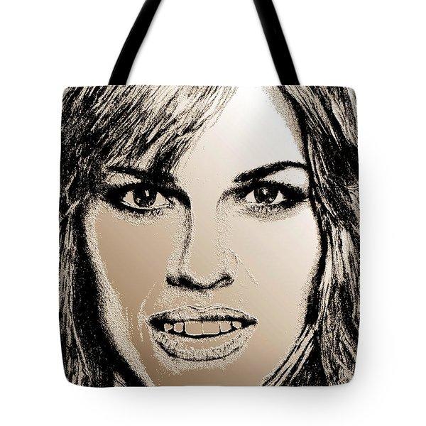 Hilary Swank In 2007 Tote Bag by J McCombie