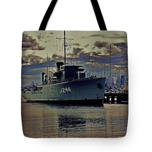 Tote Bag featuring the photograph Hmas Castlemaine 3 by Blair Stuart