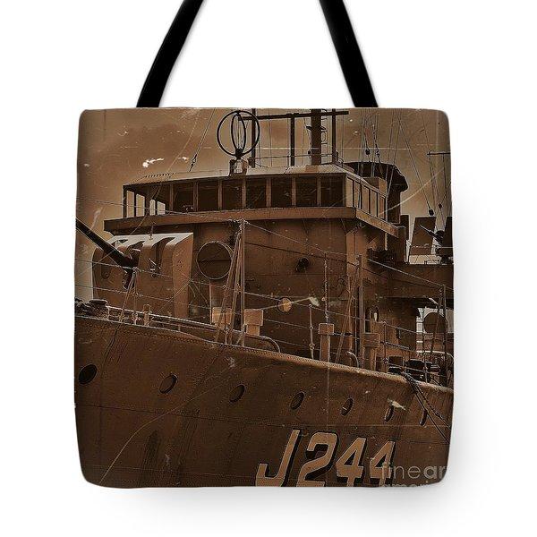 Tote Bag featuring the photograph Hmas Castlemaine 4 by Blair Stuart