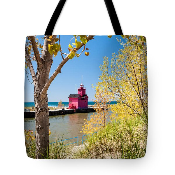 Holland Mi Lighthouse Tote Bag