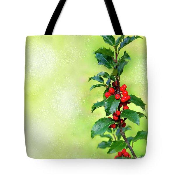 Holly Branch  Tote Bag by Carlos Caetano