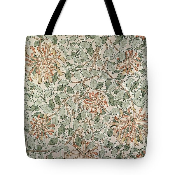 Honeysuckle Design Tote Bag