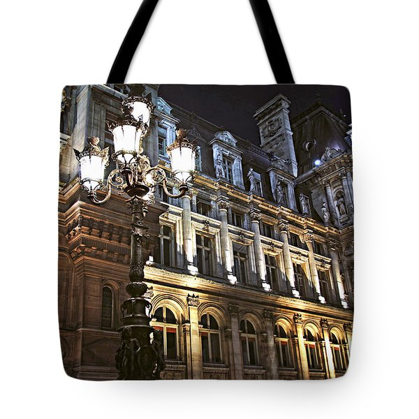 Hotel De Ville In Paris Tote Bag