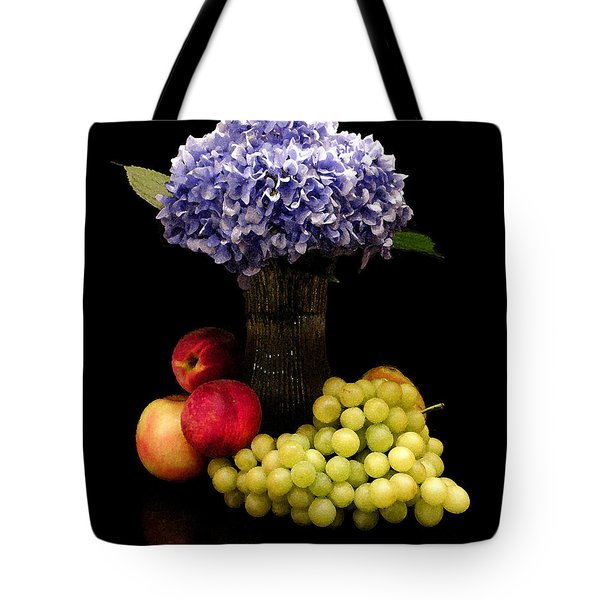 Hydrangea And Fruit Tote Bag by Sandi OReilly