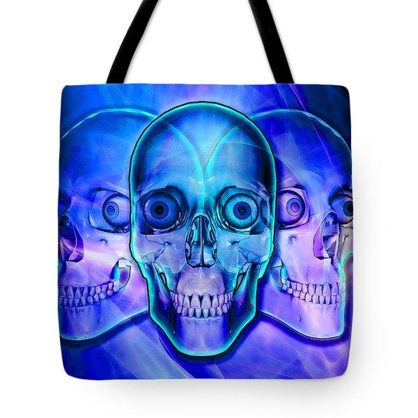 Illuminated Skulls Tote Bag