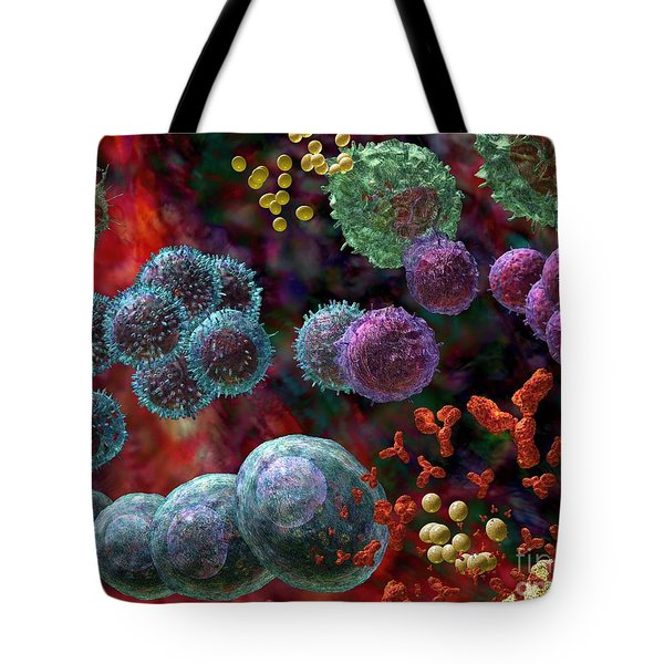 Tote Bag featuring the photograph Immune Response Antibody 4 by Russell Kightley