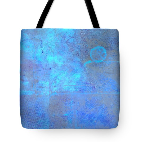Iridescent Aquamarine Tote Bag by Christopher Gaston