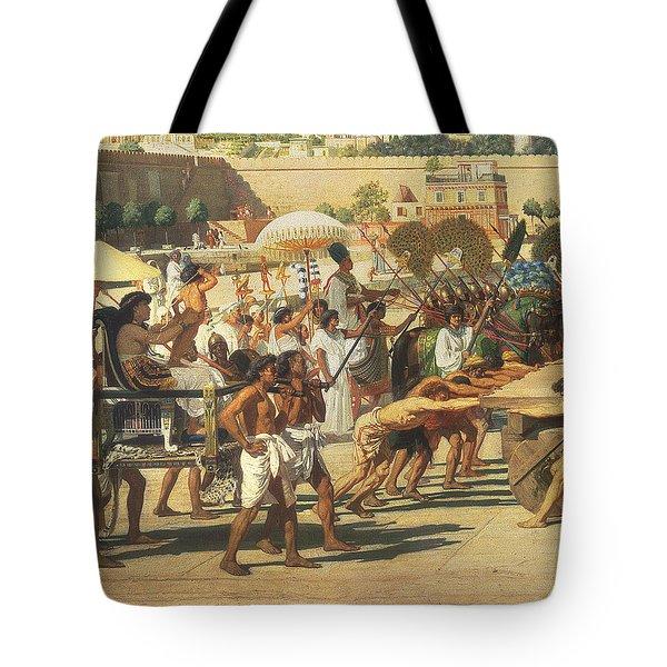 Israel In Egypt Tote Bag by Sir Edward John Poynter