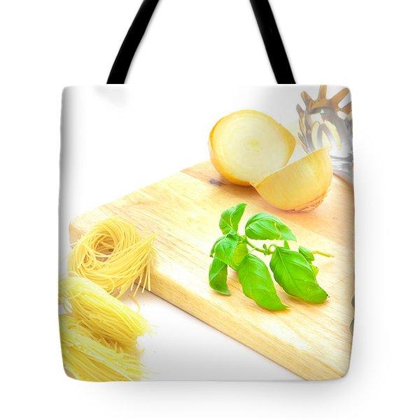 Italian Food Tote Bag by Tom Gowanlock