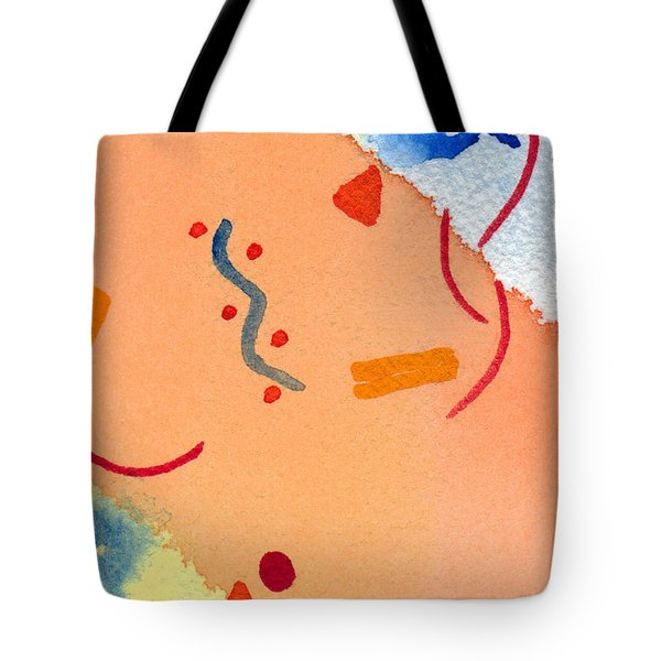 Tote Bag featuring the painting It's Orange by Paula Ayers