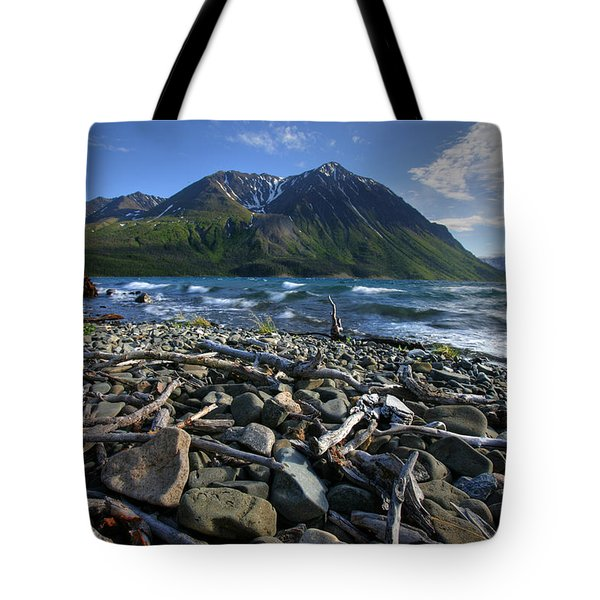 Kathleen Lake, Kluane National Park Tote Bag by Robert Postma