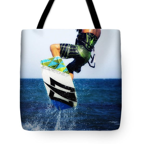Kitesurfer Tote Bag by Stelios Kleanthous