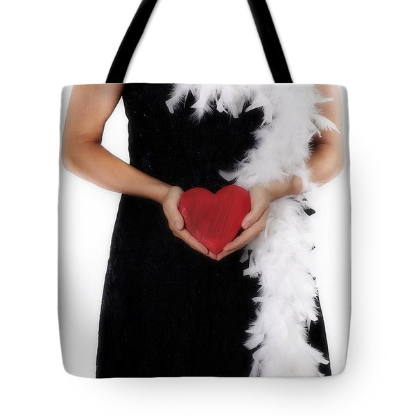 Lady With Heart Tote Bag by Joana Kruse