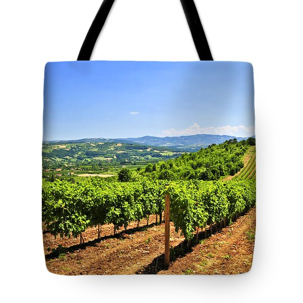 Landscape With Vineyard Tote Bag