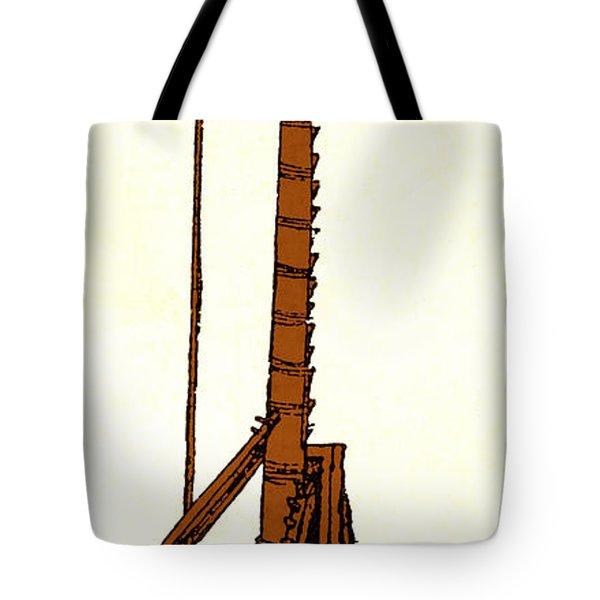 Leonardo Da Vincis Lifting Gear Tote Bag by Science Source