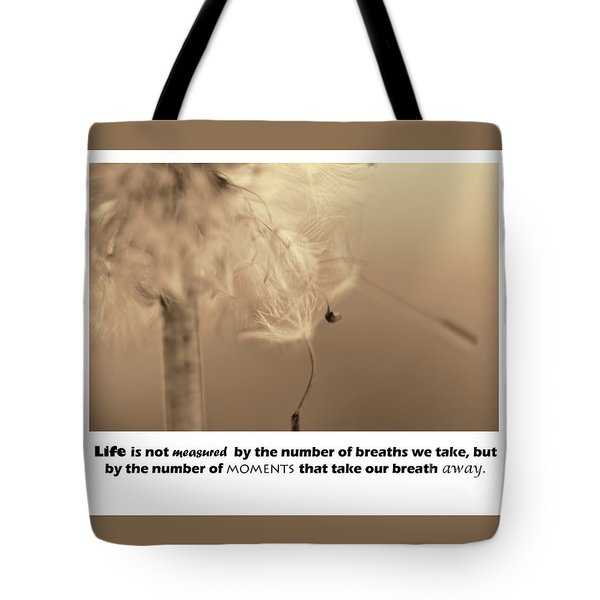Tote Bag featuring the photograph Life by Traci Cottingham