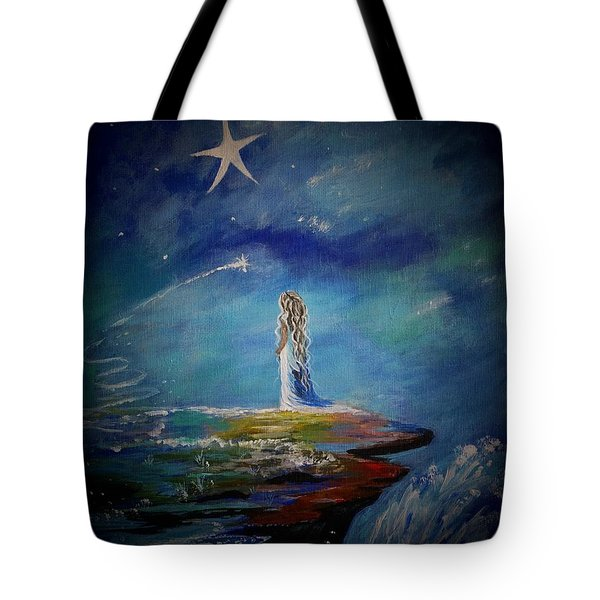 Little Wishes By The Sea Tote Bag by Leslie Allen