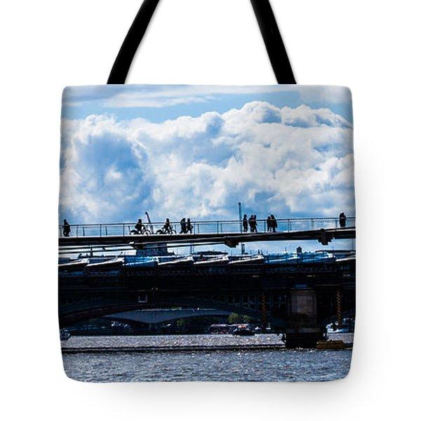 London Skyline Tote Bag by Dawn OConnor