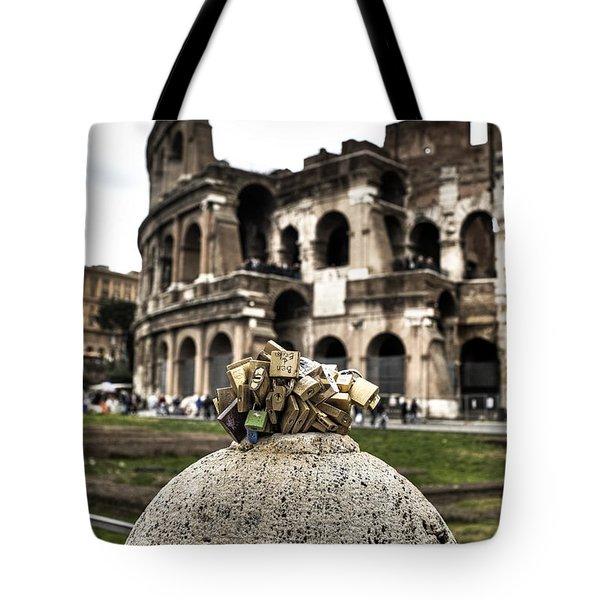 love locks in Rome Tote Bag by Joana Kruse