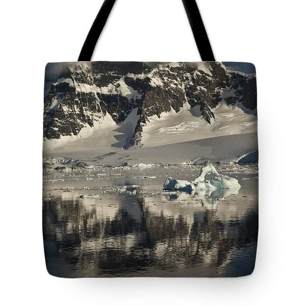 Luigi Peak Wiencke Island Antarctic Tote Bag by Colin Monteath