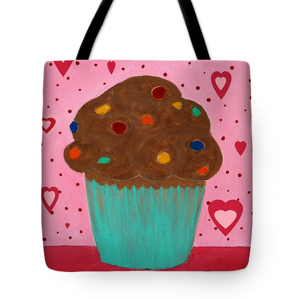 M And M Cupcake Tote Bag by Barbara Griffin