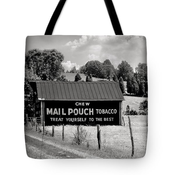Tote Bag featuring the photograph Mail Pouch Barn by Mary Almond