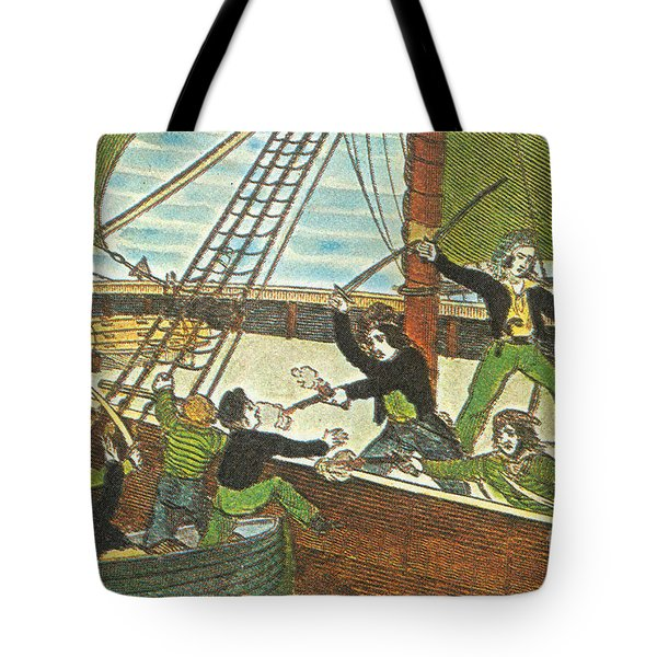Mary Read And Anne Bonny, 18th Century Tote Bag by Photo Researchers