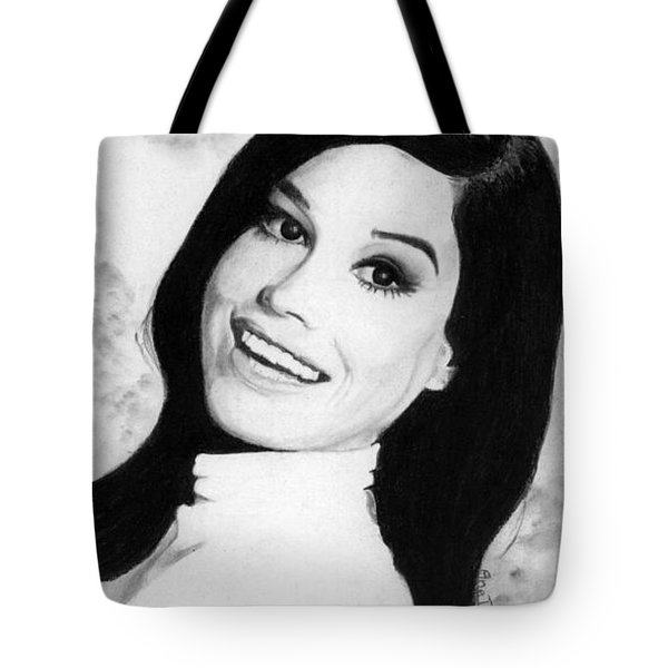 Tote Bag featuring the drawing Mary Tyler Moore Tribute by Ana Tirolese
