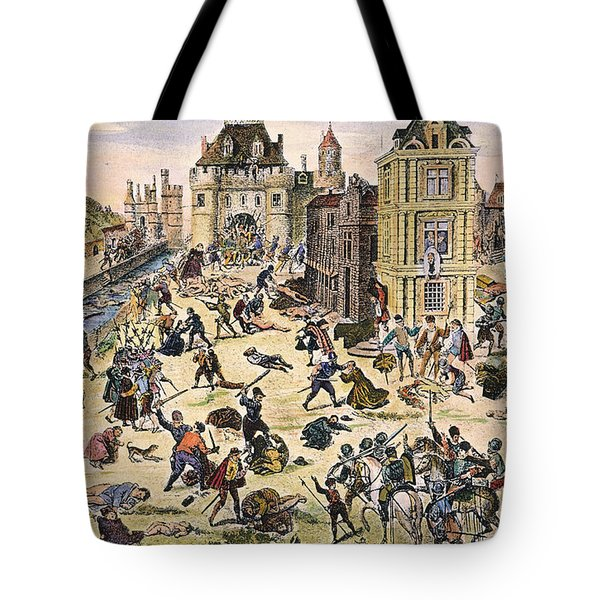 Massacre Of Huguenots Tote Bag by Granger
