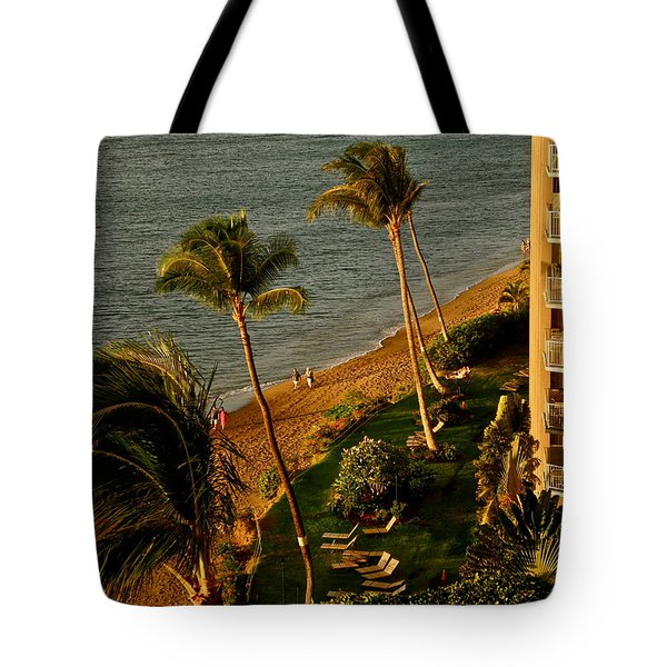 Tote Bag featuring the photograph Maui Sunset by Kirsten Giving