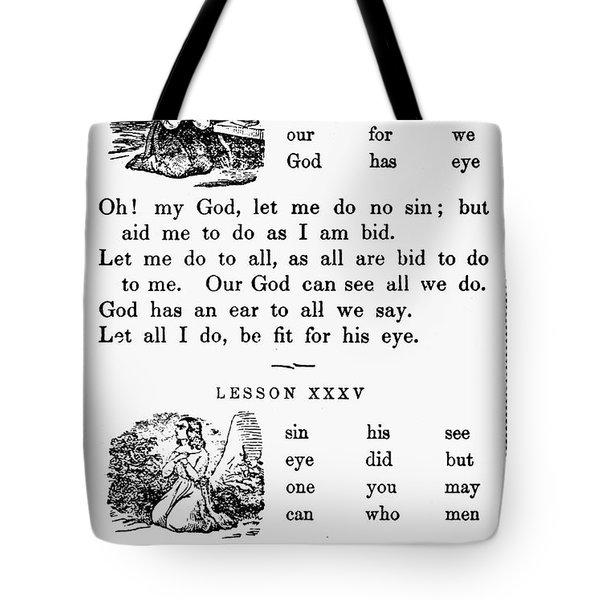Mcguffeys Primer, C1840 Tote Bag by Granger
