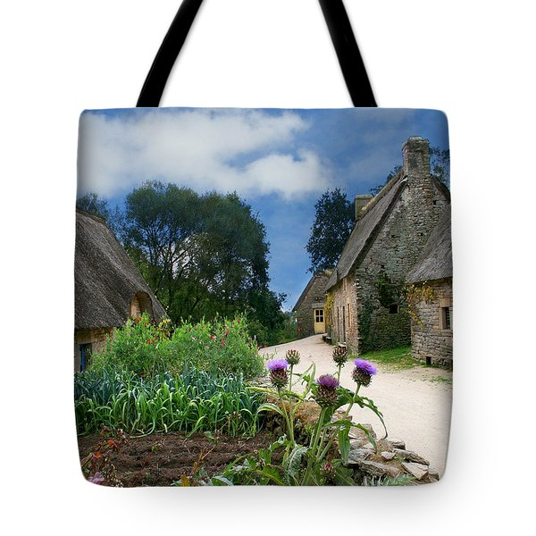 Medieval Village Tote Bag