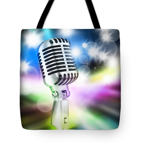 Microphone On Stage Tote Bag by Setsiri Silapasuwanchai