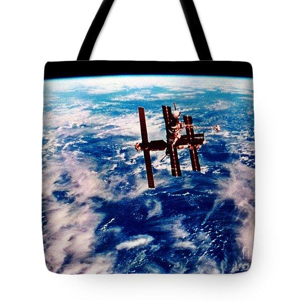 Mir Space Station Tote Bag by Nasa