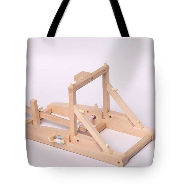 Model Catapult Tote Bag by Ted Kinsman