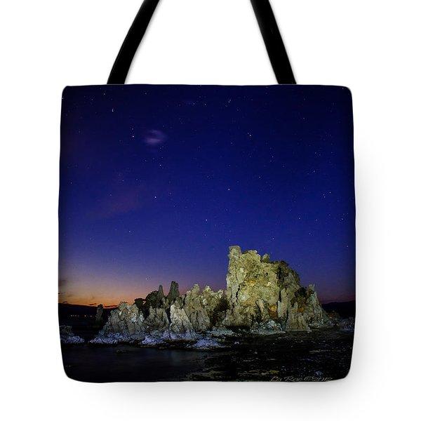 Mono Lake Big Dipper Sky Tote Bag by La Rae  Roberts