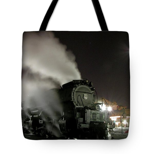 Moon And Steam Tote Bag by Tim Mulina