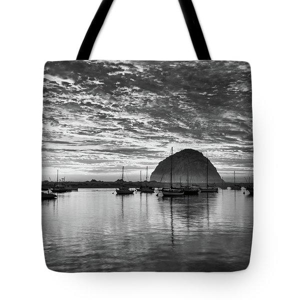 Morro Bay On Fire Tote Bag