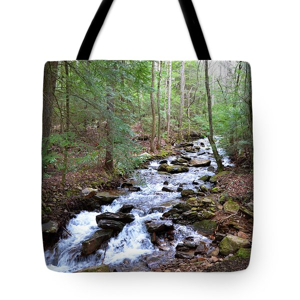 Tote Bag featuring the photograph Mountain Stream by Paul Mashburn
