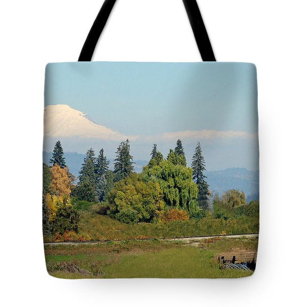 Mt. Adams In The Country Tote Bag by Athena Mckinzie