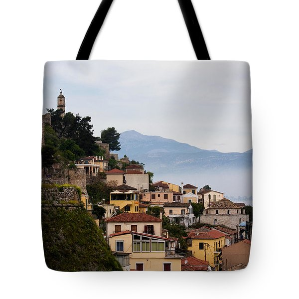 Nafplio Tote Bag by Shirley Mitchell
