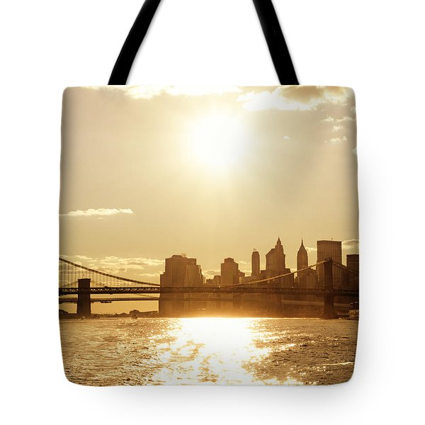 New York City Sunset Tote Bag by Vivienne Gucwa