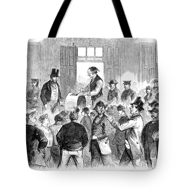 New York: Military Draft Tote Bag by Granger