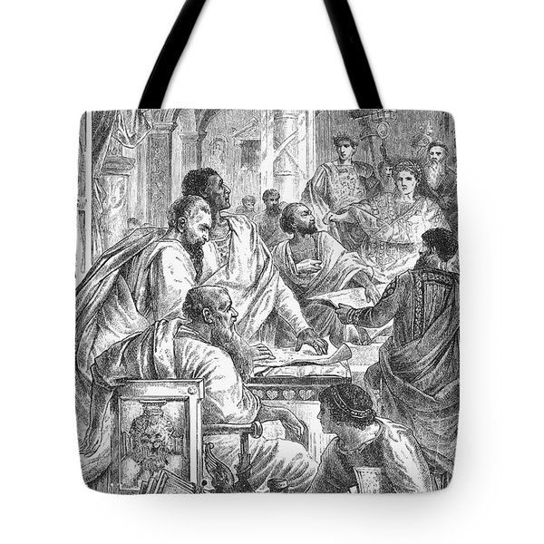 Nicaea Council, 325 A.d Tote Bag by Granger