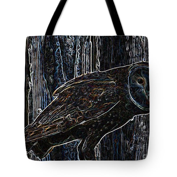 Night Owl - Digital Art Tote Bag by Carol Groenen
